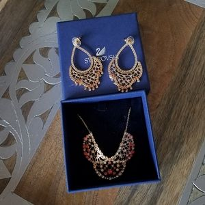 Authentic Swarovski Elinor Necklace & Earrings NWT